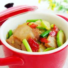 剁椒五花肉炒西葫芦的做法