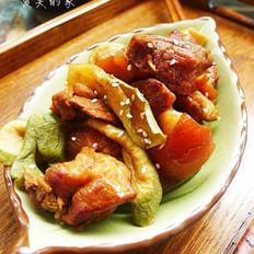 萝卜干炖肉的做法