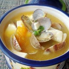 蛤蜊豆腐南瓜濃湯的做法