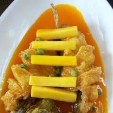 南瓜鲈鱼的做法