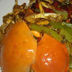 火盆干煎蟹的做法
