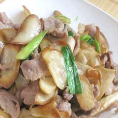 肉炒鸡腿菇的做法