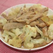 花菜炒猪肚的做法