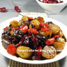 小土豆焖香菇的做法