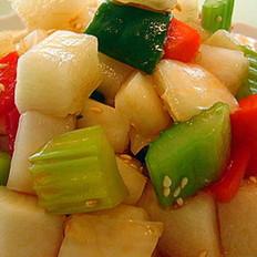 爽口川式泡菜的做法