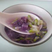 紫薯糯米槐花粥的做法