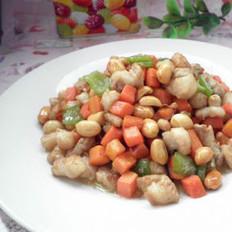 肉丁花生米的做法