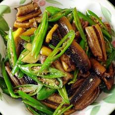 青椒鳝鱼丝