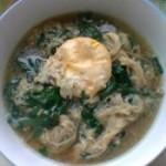 菠菜炝锅面的做法