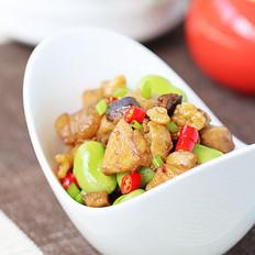 蠶豆燒雞肉的做法