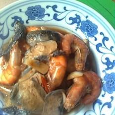 臭干焖大虾