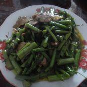 龙须菜炒肉