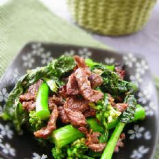 芥蓝牛肉的做法