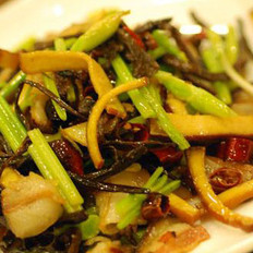 茶树菇双腊的做法