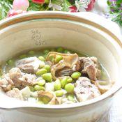 猪骨毛豆煲的做法