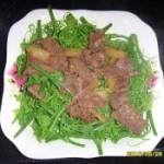 牛肉炒龙须菜