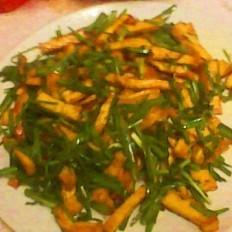 千叶豆腐炒韭菜