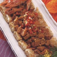 臭豆腐蒸花蟹的做法