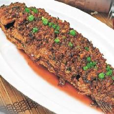 盐酸菜干烧鱼的做法