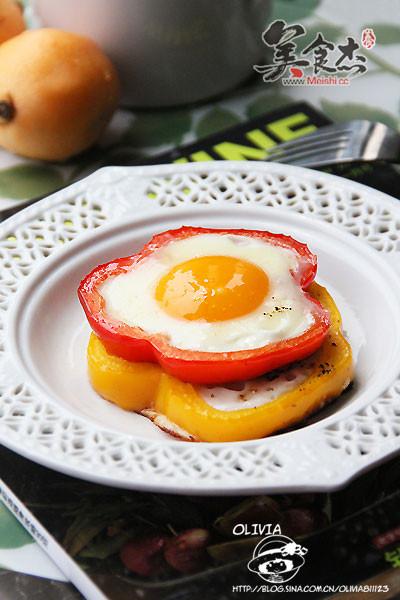 椒圈太陽花煎蛋的做法_家常彩椒圈太陽花煎蛋的做法 ...