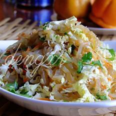 白菜心拌海蜇皮的做法