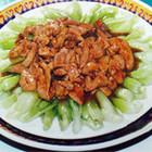鸡肝扒油菜