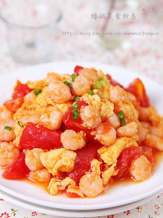 蕃茄鸡蛋炒虾仁的做法