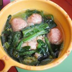 羊肉丸菠菜汤的做法