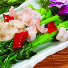 蝦仁扒芥蘭的做法