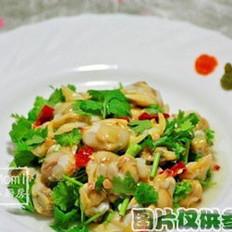 香菜拌毛蛤的做法