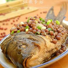 红小豆焖鲤鱼的做法