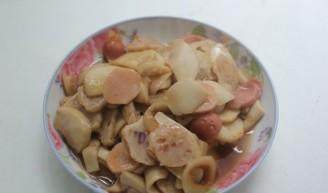 杏鲍菇炒丸子的做法
