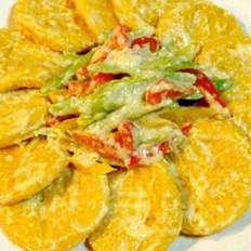盐蛋黄炒南瓜丁的做法