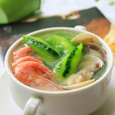 丝瓜小海鲜汤的做法