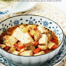 沙茶豆腐鸡丁的做法