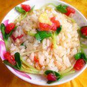 黑豆苗番茄炒米饭