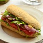 全麦蔬菜三明治