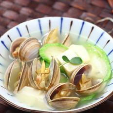 丝瓜文蛤豆腐汤的做法
