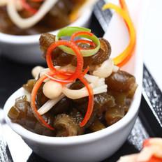金针菇凉拌海茸条的做法