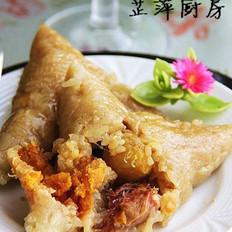 蛋黄板栗肉粽的做法