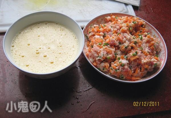 萝卜肉馅蛋卷的做法