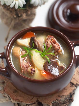 杏鲍菇炖鸡汤 - 德财兼备 - 德财兼备的博客