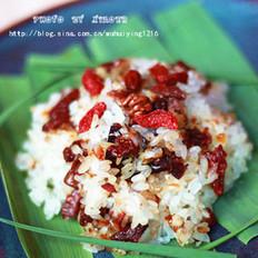 杂果糯米饭的做法