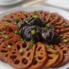 卤藕和卤香菇的做法