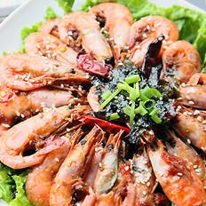 香辣海苔北极虾的做法