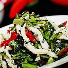 雪菜炒肉丝的做法