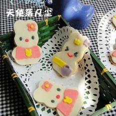 兔子翻糖餅干的做法