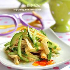 腐竹拌黄瓜