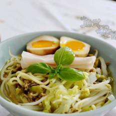 日式味增肉末拉面的做法
