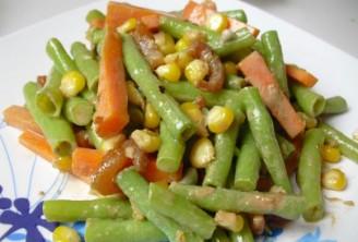 玉米香虾拌豇豆的做法